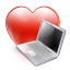 Love computer Icon