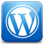 Wordpress blue icon