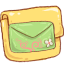 Folder Mail Green icon