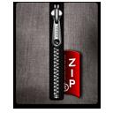 Zip silver black-128