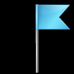 Map Marker Flag 4 Right Azure