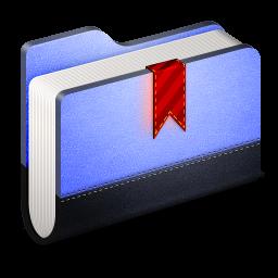 Bookmarks Blue Folder