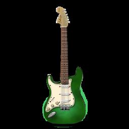 Stratocastor Guitar Green