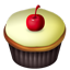Cupcakes cherry vanilla Icon