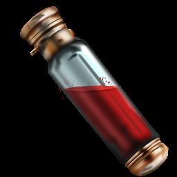 Sample vial full