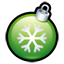 Christmas ball green icon