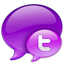 Small Twitter Logo in Pink-64