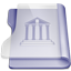 Purple library icon