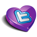 Twitter purple heart-128