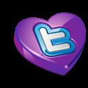 Twitter purple heart-128