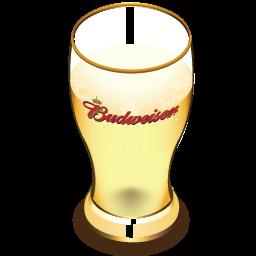 Budweiser beer glass