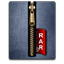 Rar gold blue icon