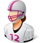 Footballplayer Female Light icon