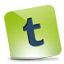 Tumblr green hover icon