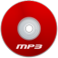 Mp3 Red icon