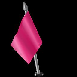 Map Marker Flag 2 Left Pink