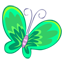 Green Butterfly Icon