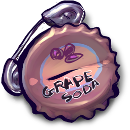 Grape Soda With Safety Pin