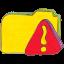 Folder y warning icon