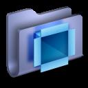 DropBox Blue Folder-128