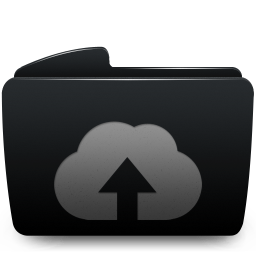 Folder Black Web Upload Icon Download Sabre Icons Iconspedia