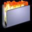 Burn Blue Folder Icon