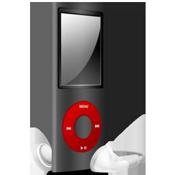 iPod Nano black and red off