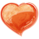 Herz orangen-128