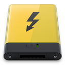 HDD Yellow Thunderbolt-128