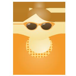Sunglass woman orange