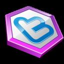 Purple shape twitter-128