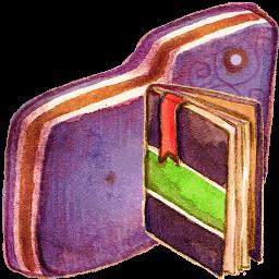 Notebook Violet Folder