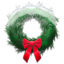 Holiday wreath snowy icon