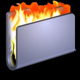 Burn Blue Folder