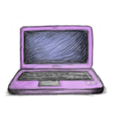 Laptop hand drawn