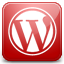 Wordpress red icon