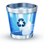 Trash blue icon