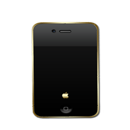 iphone Black and Gold