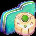 Robot Green Folder-128
