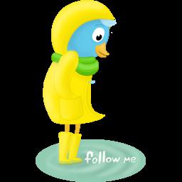 fall raincoat follow me
