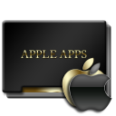 Apple Apps Black and Gold-128