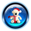 Christmas Teddy Bear Icon