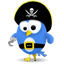 Twitter pirate icon