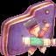 App Violet Folder icon
