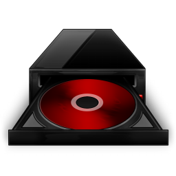 Cd Rom black red-256