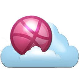 Dribbble cloud