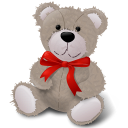Teddy Bear Red Ribbon-128