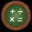 Calculator Round Icon