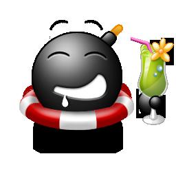 Cocktail emoticon