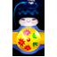 Kokeshi blue-64